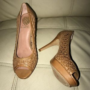 Woven Leather Heels by Vince Camuto